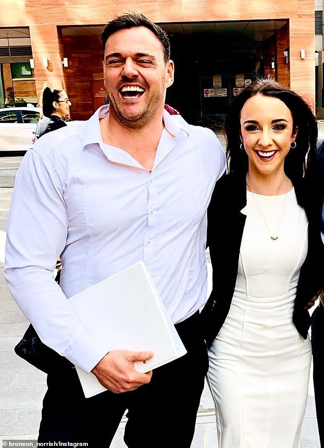 New love: Back in April, Bronson revealed he had finally found love after calling it quits with his ex girlfriend. Pictured with his new flame Hayley Wallis