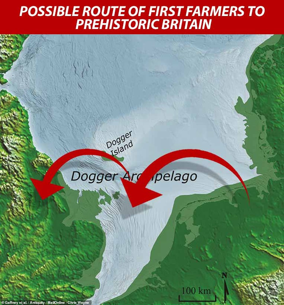 This means that the archipelago may have still existed at the time agriculture was first introduced to Britain — and that these easternmost islands may have been the place where the first farmers arrived in the country before spreading to the mainland