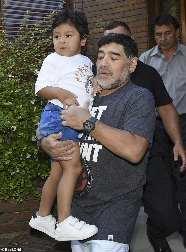 Diego Maradona recorded a heartbreaking message about his 'angel' youngest son hours before his death, it has emerged.