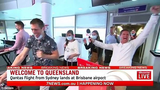 Channel Nine are reportedly 'furious' after Seven's Sunrise weatherman Sam Mac (right) broke protocol by 'ambushing' Today's rival broadcast at Brisbane Airport on Thursday