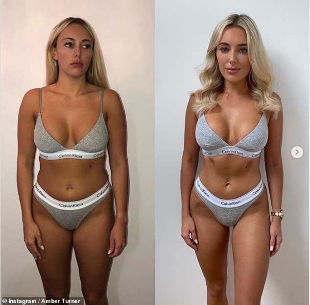 Wow-factor! In July, the TV star unveiled her impressive body transformation in a series of before and after snaps after losing 1.5 stone