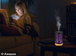 Keep the diffuser in your living room or bedroom to release a calming fragrance
