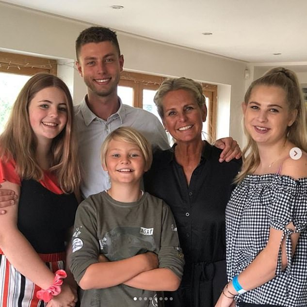 Family affair: Ulrika is now a mother to four children and has been married three times