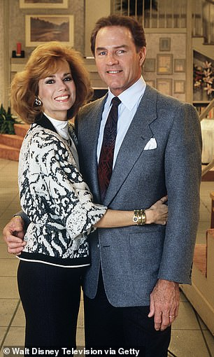 Loss: Kathie met her second husband Frank Gifford on the set of Good Morning America in the '80s