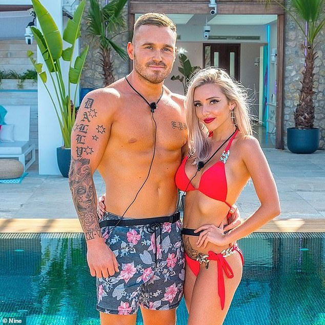 Ego: Mr Mathieson also revealed many reality stars suffer from 'grandiosity', which 'basically means the capacity to think that you're slightly better at everything than everybody else'. Pictured: Love Island Australia stars Eden Dally andErin Barnett