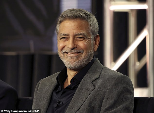 Like-minded: Clooney told People he has yet to have an argument with his wife - with whom he is raising three-year-old twins Alexander and Ella - despite their long stint behind closed doors