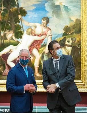Prince Charles, pictured left, with National Gallery Director Dr Gabriele Finaldi,