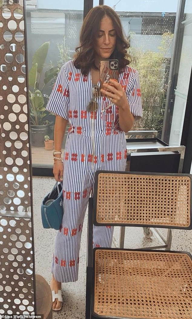 Wow! Michael Wipfli's wife Lisa showed off her expensive ensemble during a trip to a Sydney hair salon on Wednesday