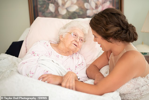 Woman visits poorly grandmother in a wedding dress knowing she wouldn't live to see the ceremony