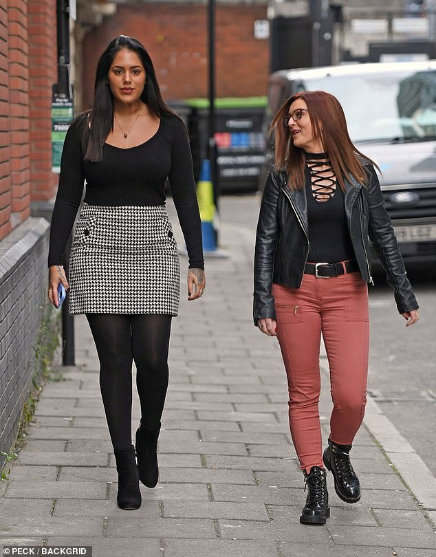Strut: The reality starlet certainly seemed confident as she strutted down the street with her pal