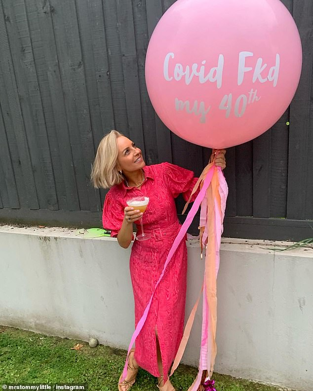 Happy birthday:On Friday, Carrie celebrated 40th birthday by throwing a small shindig with her friends and family by her side