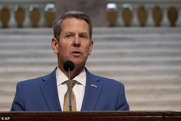 Gov. Brian Kemp said Thursday that state law gives the Secretary of State the power to verify or adjust election procedures if necessary. He claimed he had urged GOP Secretary of State Brad Raffensperger to do a 'signature audit'