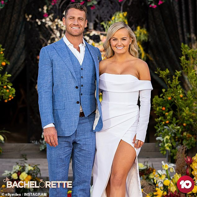 Another break-up: Last week, Elly Miles became the latest Bachelorette to break up with her winning suitor, after she confirmed her widely-speculated split from Frazer Neate (left)