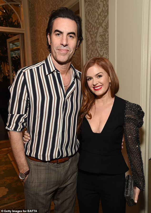 Down Under:Australia has become inundated with Hollywood stars making their home Down Under, either permanently or temporarily, over the past year.With the COVID-19 pandemic raging in the United States, a slew of productions have shifted operations to largely coronavirus-free regions of Australia. Pictured:Sacha Baron Cohen and his Australian wife, Isla Fisher