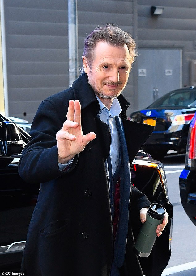 Liam Neeson is trapped on the set of his new movie Blacklight due to COVID-safe 'production bubble'