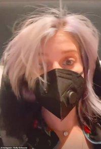 Kelly Osbourne is on an IV drip as she battles bronchitis
