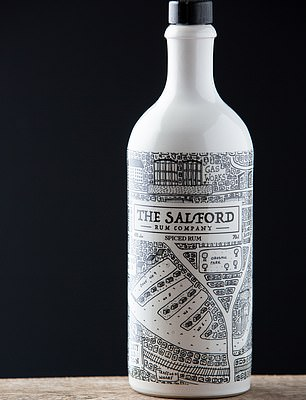 Salford Dark Spice rum, pictured, is inspired by rum and spices imported to the city's major docks in the early 1900s