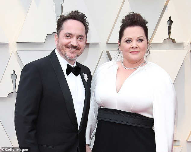 Charity run: Melissa McCarthy and husband Ben Falcone wrapped up the 20 Days Of Kindness campaign, in tandem with their new film Superintelligence, by helping raise $1.5 million