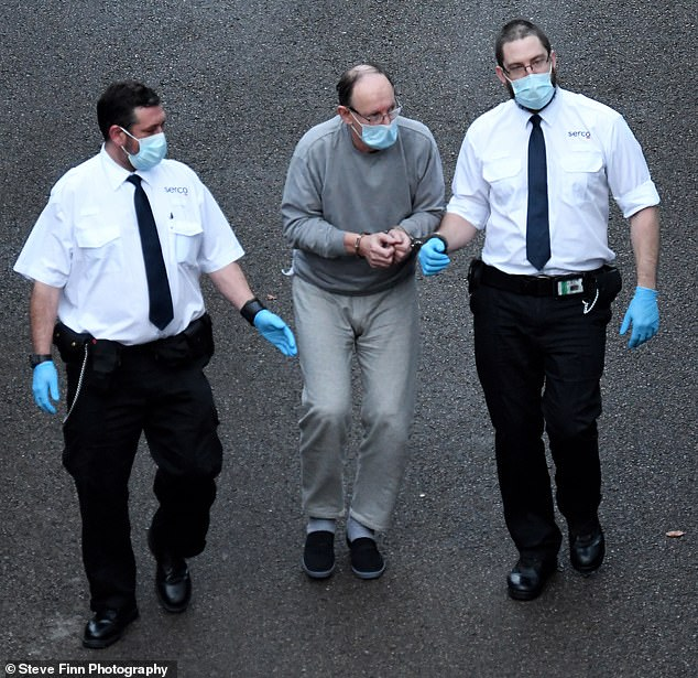 David Fuller (centre) has been pictured arriving at court charged in connection with one of Britain's longest-unsolved double killings