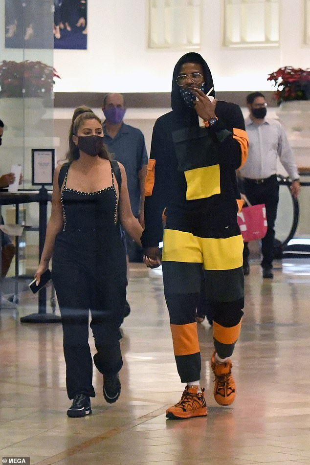 Scandal: Pippen was spotted holding hands with Malik Beasley at a mall in Miami last week despite the 24-year-old basketball star being married