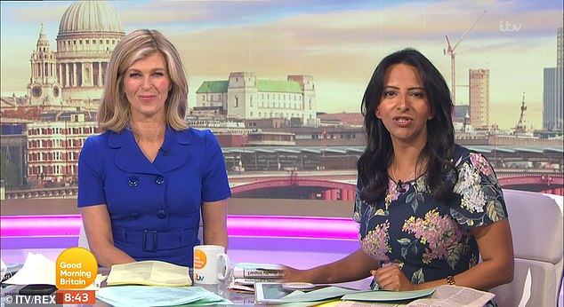 Host: Ranvir regularly stands in for Good Morning Britain 's main presenters Piers Morgan and Susanna Reid (pictured here in October with Kate Garraway)