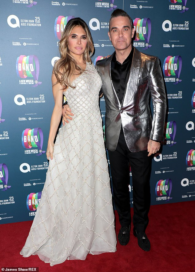 Family: Robbie said becoming a father and being married at Ayda Field helped change his outlook on life (pictured together in 2018)