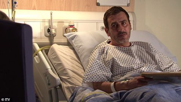 Heartbreaking: Peter Barlow will be told he's dying of liver failure on Coronation Street later this month