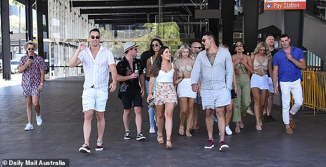 Three-day bender: The reality stars have been making the most of their time together, hitting the town daily since Friday