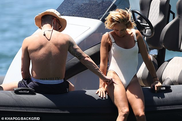 Understandable!While Michael and Pip regularly document their Sydney Harbour jaunts by sharing glossy Instagram photos, the pair chose not to share a photo of this particular moment on Sunday