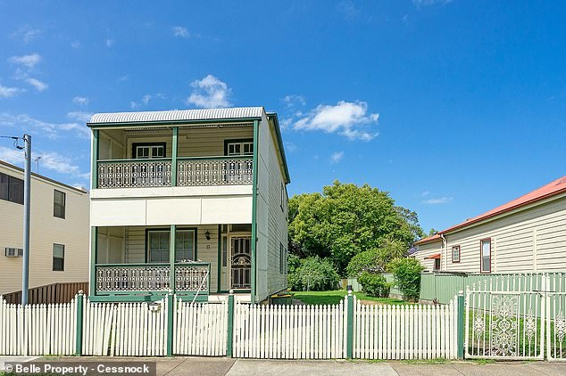 Australians could soon be paying $5,000 a year more in rent despite coronavirus restrictions killing population growth. Pictured is a house at Maitland north-west of Newcastle being leased for $470 a week in a town with a rental vacancy rate of less than one per cent