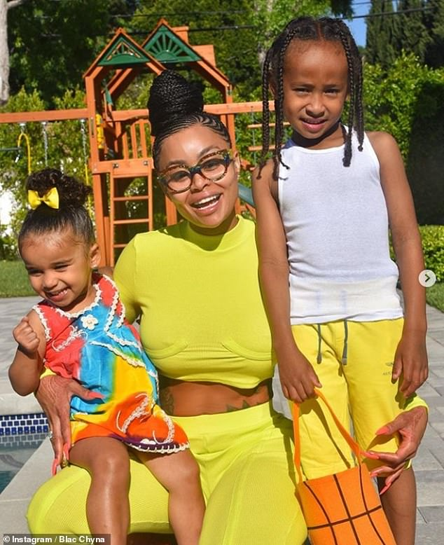 Ongoing:Earlier this year, the Kardashian-Jenners hit back at alleged claims of racism made by the mother-of-two, who also shares son King Cairo, eight (pictured this year), with her ex Tyga