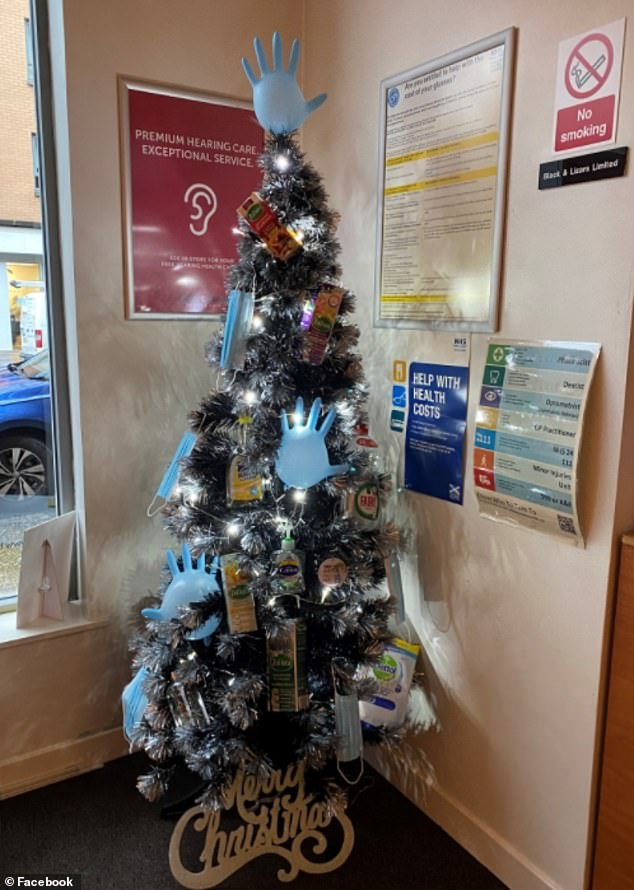 Dettol the halls! A GP surgery inShettleston, Glasgow showed off their Zoflora themed clean tree