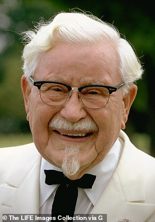 Variations: Mario Lopez portrays a sexy Colonel Harland Sanders (pictured), the real-life founder of KFC, who was known for his white hair and glasses.