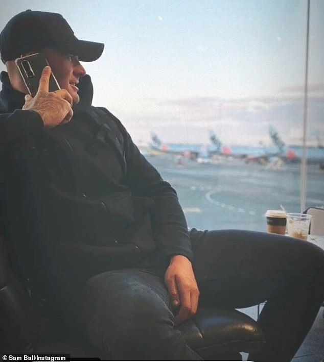 He's arrived! Sam shared a series of photos to Instagram after arriving in Sydney, where the reunion special is being filmed