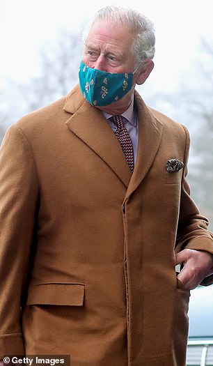 Firm favourite: Prince Charles wore the mask to Salisbury Cathedral on Monday