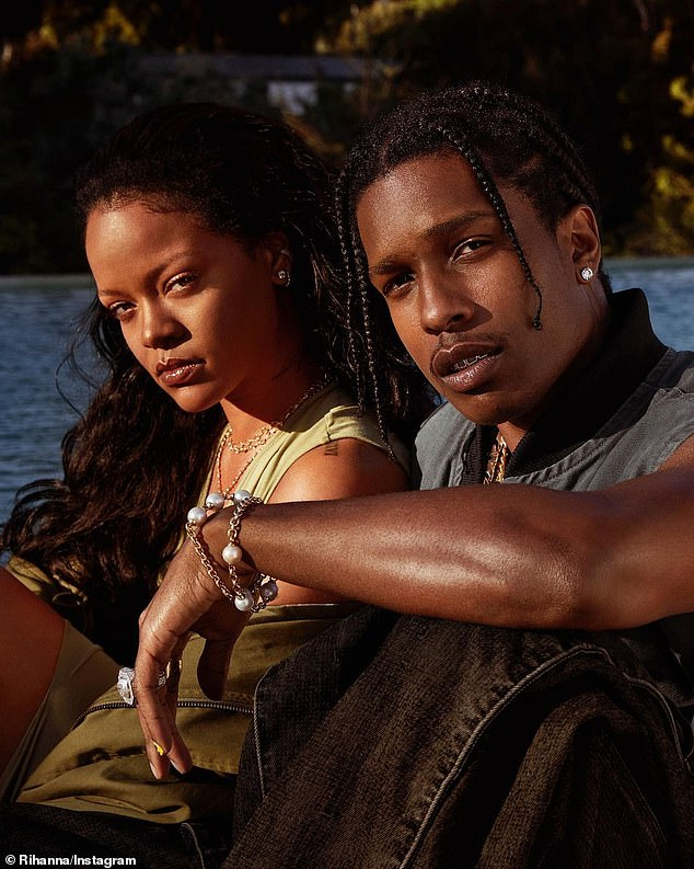 Sweet: In December, People reported that Rihanna and A $ AP Rocky were 'inseparable' as they were 'very close' to each other (pictured together in the campaign)