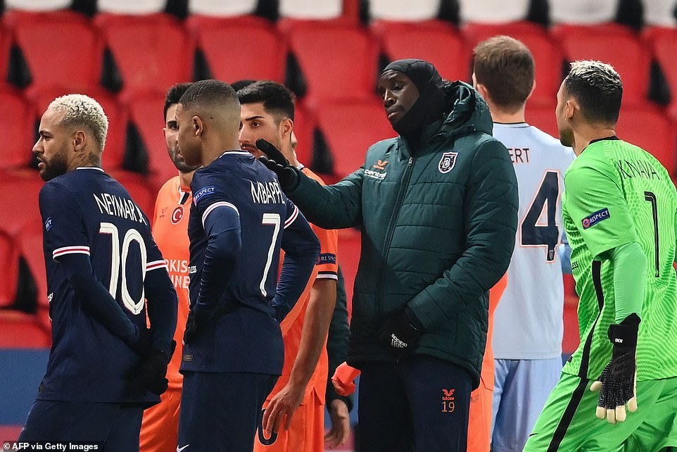 Former Chelsea and Newcastle striker Demba Ba was left furious and confronted the officials