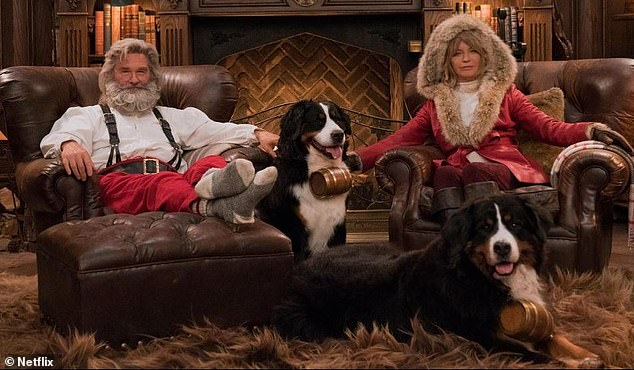 Festive spirit: according to the loved couple, their favorite moments together are spent with their children and grandchildren, especially at Christmas