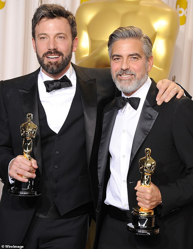 Reunited: Clooney's leading man in the coming-of-age film based on the memoir by author J.R. Moehringer is Ben Affleck with whom he worked on the Oscar-winning movie Argo