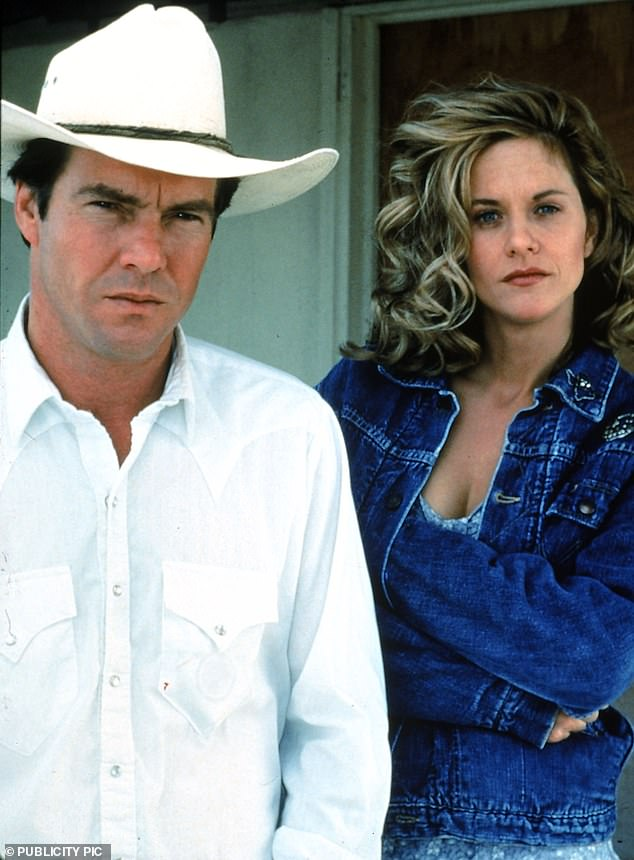 Star power: Meg was already a major celebrity when she filmed Flesh And Bone in which she is pictured alongside her then-husband Dennis Quaid