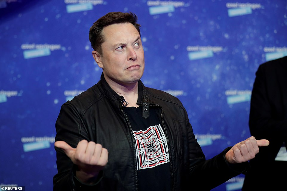 Mr Musk, pictured, had suggested the high-altitude test flight could end in a crash — and he was right