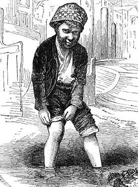 19th century mudlark from Henry Mayhew's book, London Labour & London Poor, 1861