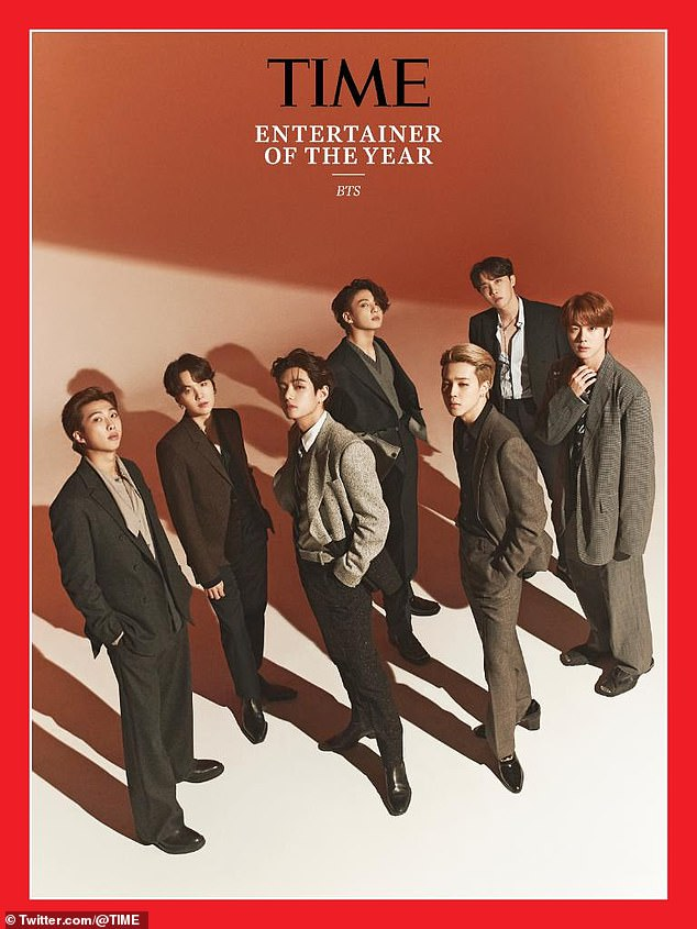 TIME also announced its Artist of the Year - Korean boy band BTS