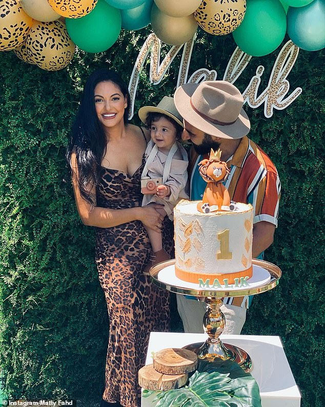 Picture perfect: The couple shared a string of cute photos to Instagram of the party