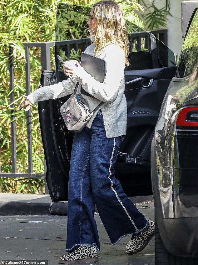 Looking fab:Jessica Alba has still managed to go blonde and was glimpsed in the City Of Angels this Thursday sporting her new platinum locks