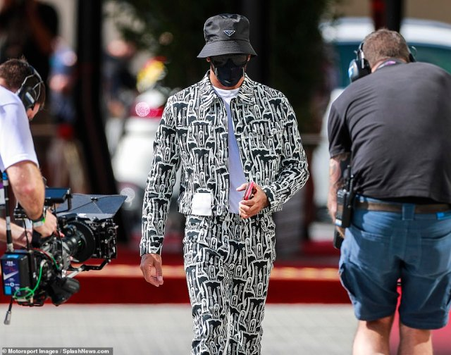 The British champion caused quite the stir as he arrived at the circuit in Abu Dhabi ahead of his return to Formula 1 racing