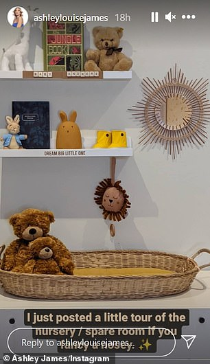 Revamp: She gave the baby's room a stylish revamp, but faced criticism for not including a cot