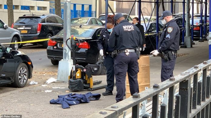According to CBS Local, a protest was taking place in the area for people on hunger strike at an ICE facility in Bergen County, New Jersey, at the time of the collision.