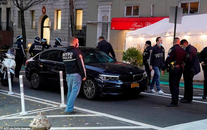 Several ambulances, emergency vehicles and NYPD officers were seen at East 39th Street and Lexington Avenue in Manhattan on Friday just after 4 p.m.