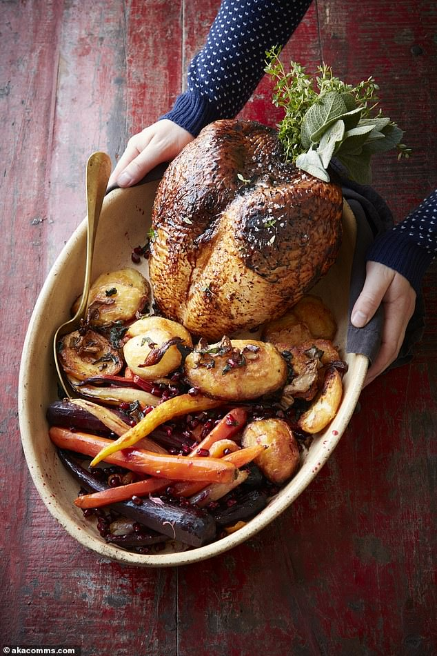 This lovely turkey recipe features some ingredients you may not be familiar with - tamarind - often used in Indian cooking and miso - typically found in Japanese